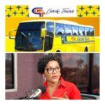 Compañía Caribe Tours responde llamado comunicadora Jezabel García Ureña.